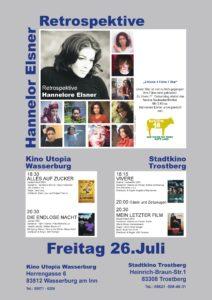 26. Juli 2019 Hommage an Hannelore Elsner