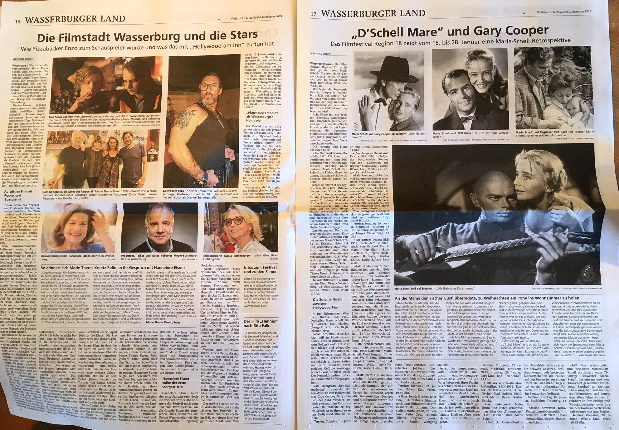 Wasserburger Zeitung – Hollywood am Inn