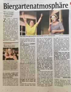 Read more about the article Abendzeitung – Biergartenatmosphäre