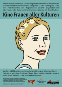 Read more about the article Kino Frauen aller Kulturen München #2 – 14.10.2021